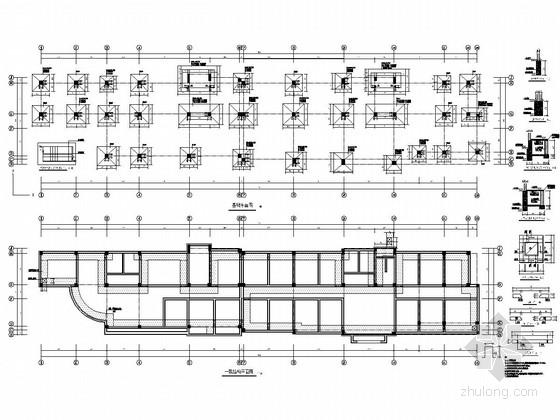 [山东]地上四层框架结构办公楼结构施工图(坡屋顶)