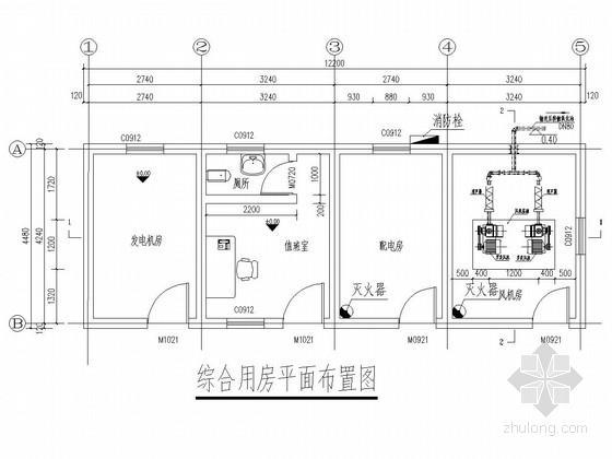 污水处理厂综合用房施工图