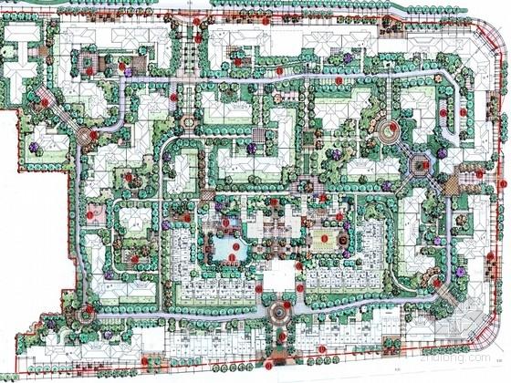 [福建]北美新古典主义风格居住区景观规划设计方案(含扩初图)