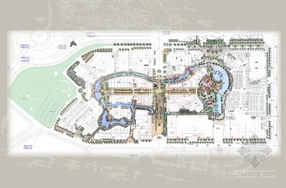 [广东]主题购物中心景观设计方案(超详细、全面)-总平面图