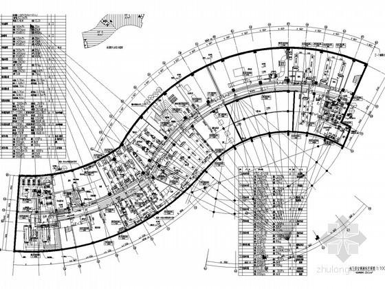 高层酒店空调通风及防排烟系统设计施工图(机房设计)