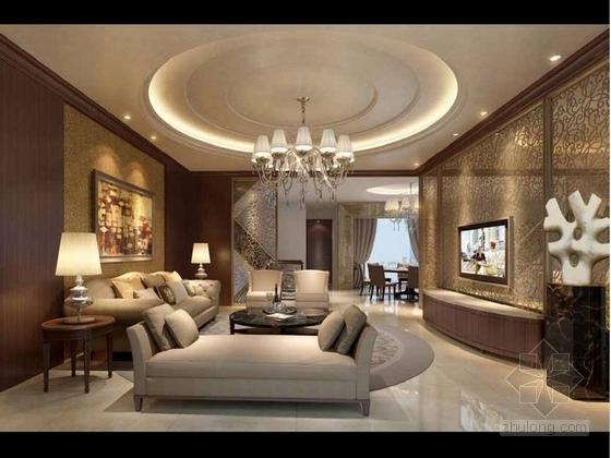[成都]瑰丽风格三层别墅样板间室内装修图(含方案文本) 实景