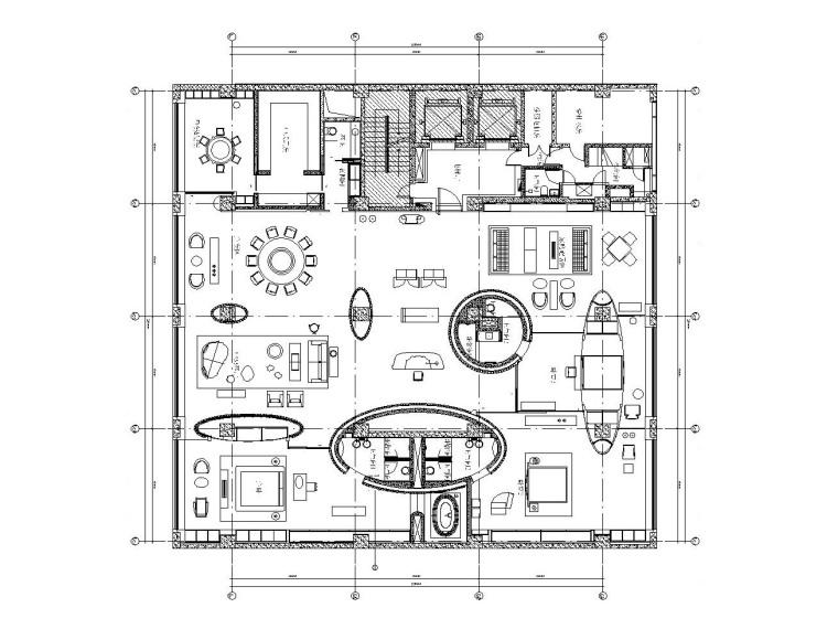 [北京]金螳螂设计——英式公寓样板间装饰竣工图