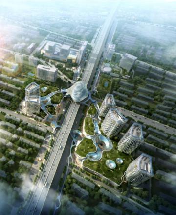 [上海]后现代感甲级办公楼及大型主力店建筑方案文本