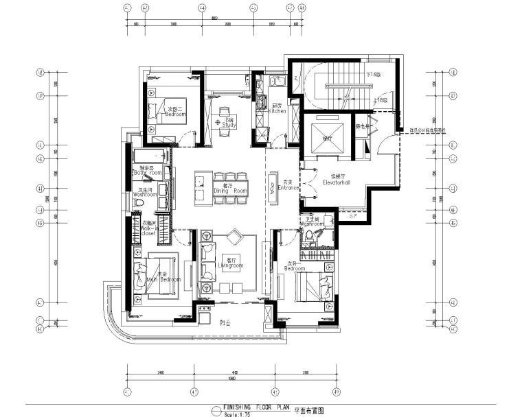 [上海]集艾设计G&A-海珀黄浦4-1中式样板间设计方案含效果图+施工图_4