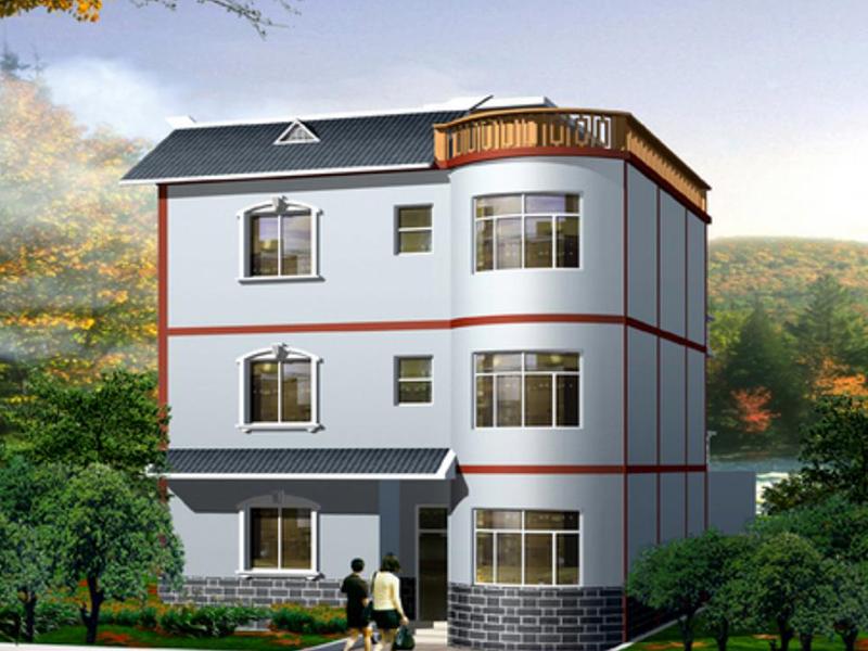图纸格式:jpg,天正7,cad2000 效果图:有 本户型为3层新农村独栋别墅图片