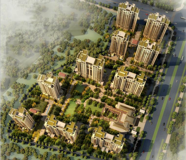 [上海]普陀区长风生态商务居住区建筑方案文本(JPG+106页)