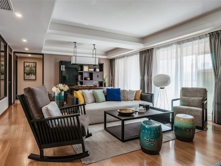 新中式风格的居住空间