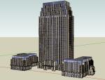新古典风格办公楼建筑模型设计