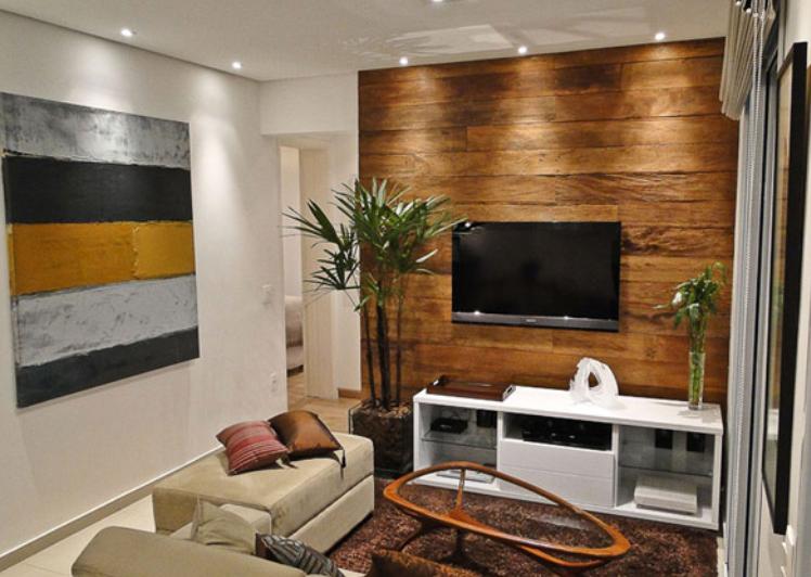 沉稳大气一居室木质自然生活室内设计实景图