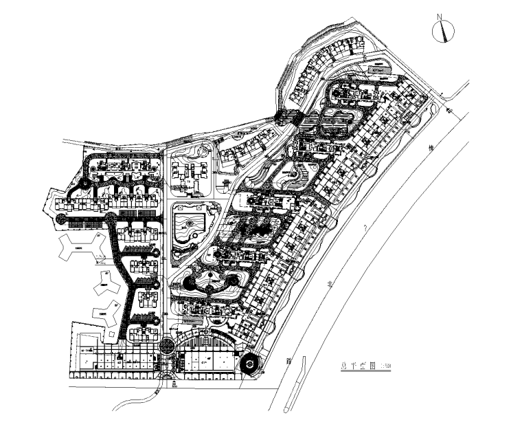 [广东]珠海美丽湾居住区景观设计CAD施工图