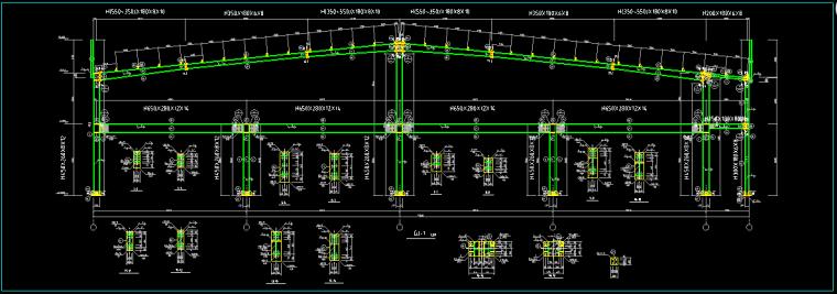 门式刚架带夹层结构二层厂房建筑结构施工图_1