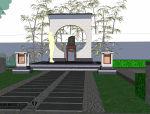 小庭院景观模型(SU模型)