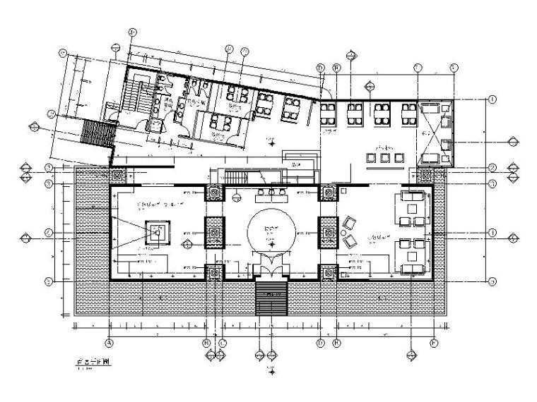 [北京]中式办公室设计CAD施工图