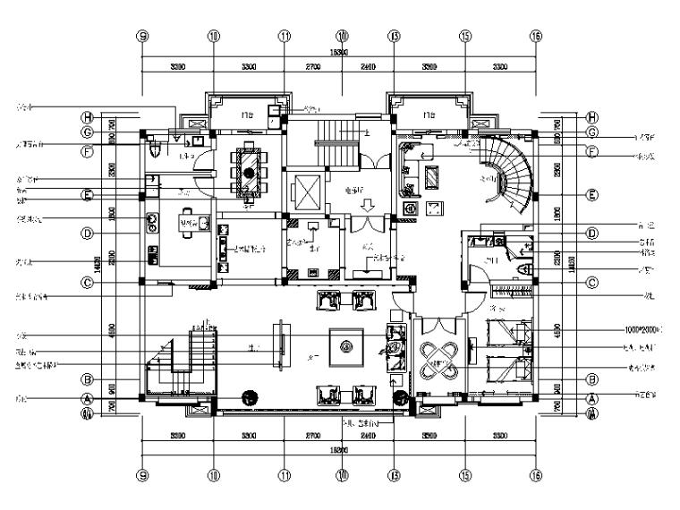 [苏州]新中式风格别墅样板房设计CAD施工图(含效果图实景图)