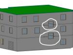 跨楼层创建窗户怎么剪切墙体和楼板?