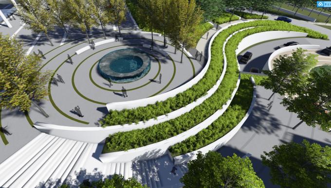 [湖南]山林古镇生态度假区旅游服务中心景观设计全套施工图(附景观效果图)