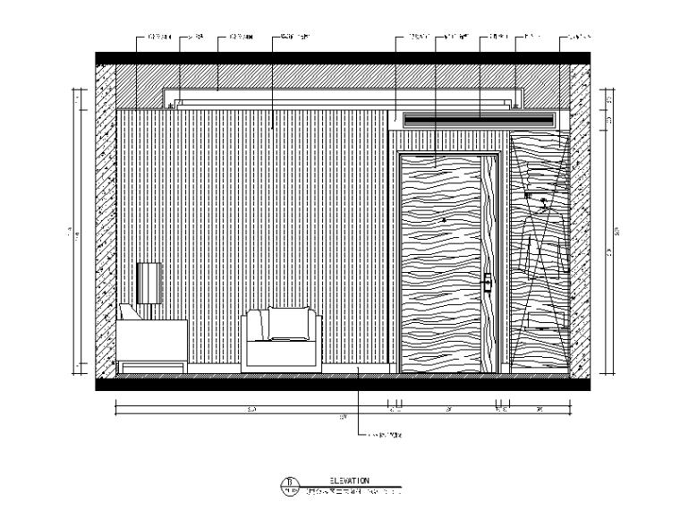【福建】混搭风格检察院设计CAD施工图(含效果图)_5