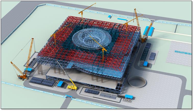 钢结构科技馆施工组织设计汇报(附图丰富,钢框架)_11