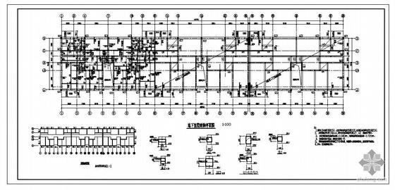 [分享]半地下室结构施工图资料下载图纸渔船木头图片
