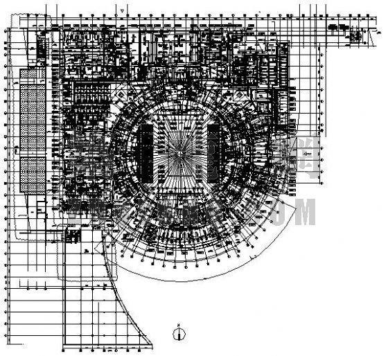 某网球中心一楼空调设计图