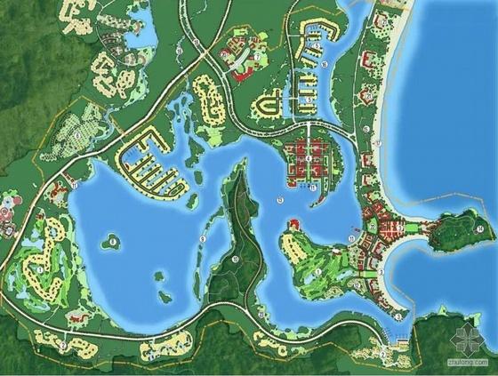 三亚海湾概念性总体规划图纸全套
