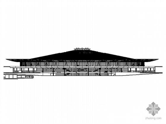 [上海]某火车站主站屋建筑施工图、效果图