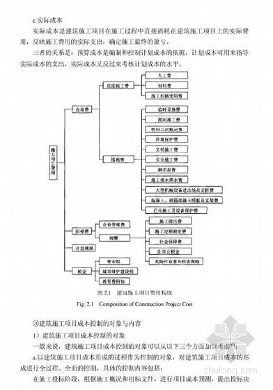 [硕士]建筑施工项目成本控制研究[2010]