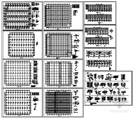 某二层钢框架结构设计图