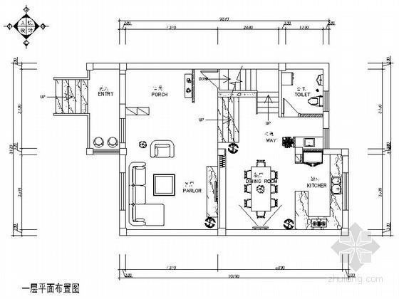[宁波]某乡村双层别墅室内装修图(含效果)