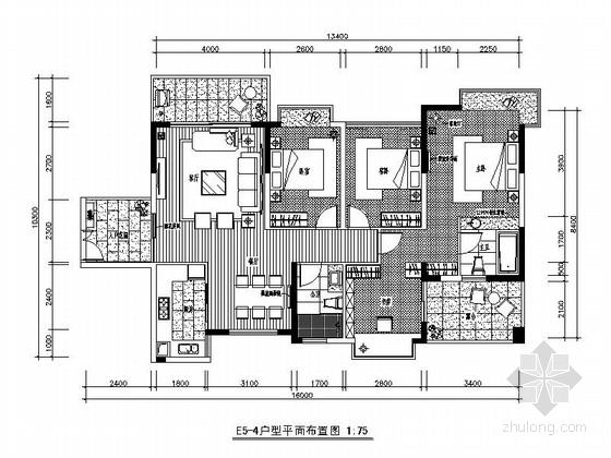 [广西]简欧风格四居室样板房装修图(含效果)
