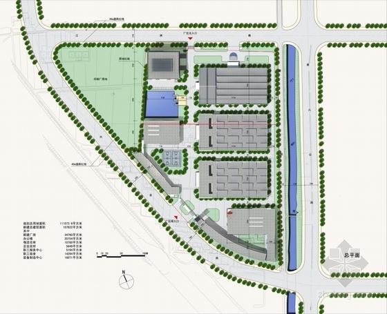 [江苏]方形天窗屋面办公楼规划建筑设计方案文本(含CAD)-方形天窗屋面办公楼规划建筑总平面图
