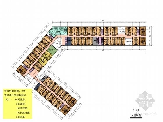 现代风格四星级酒店平面图