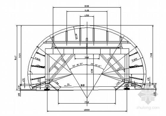 隧道复合式衬砌台车构造图