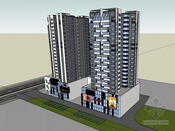 商业综合建筑SketchUp模型下载-商业综合建筑