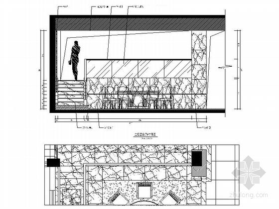 [福建]产权式时尚现代四层别墅样板房装修图宴会厅立面图
