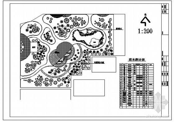 某村小游园灌溉平面图