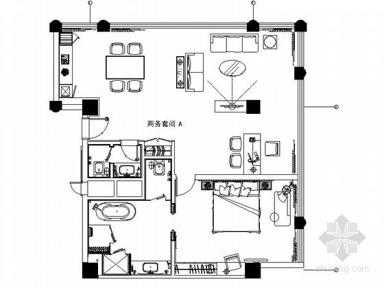 [陕西]五星级豪华酒店商务套间室内装修图(含效果)