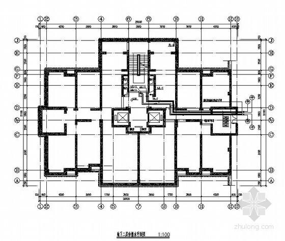 辽宁某大学旧校区改造(地上37层地下3层)全套水施工图