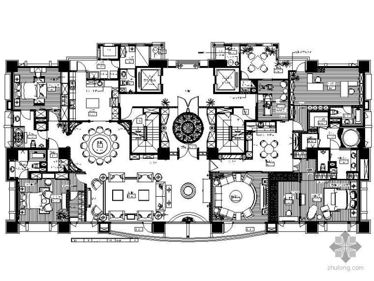 [台湾]欧式豪华五居室住宅装修图(含实景)