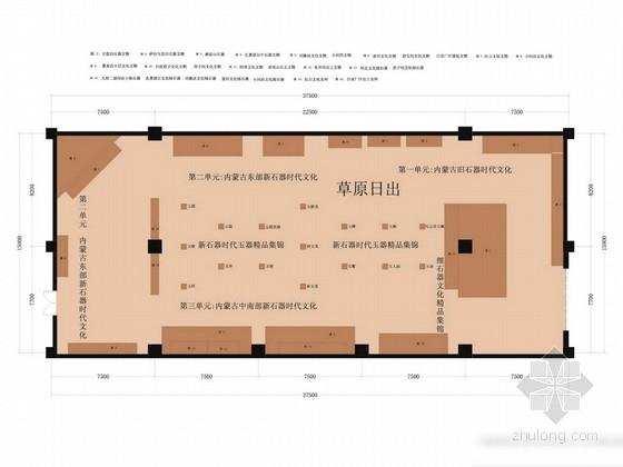 [内蒙古]地标性建筑区级综合性博物馆陈列设计方案图