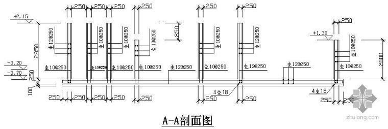 某气浮池钢筋配件图节点构造详图