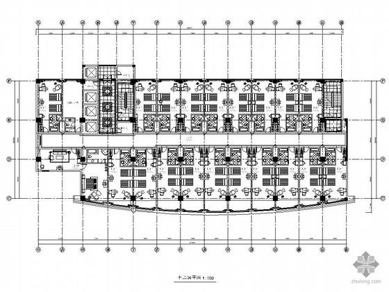 酒店标准层客房设计图