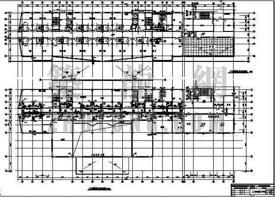 山西某十层综合实验楼给排水图