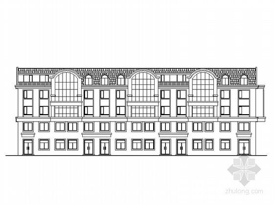 [黑龙江]某四层塔式商住楼建筑方案图(4号)