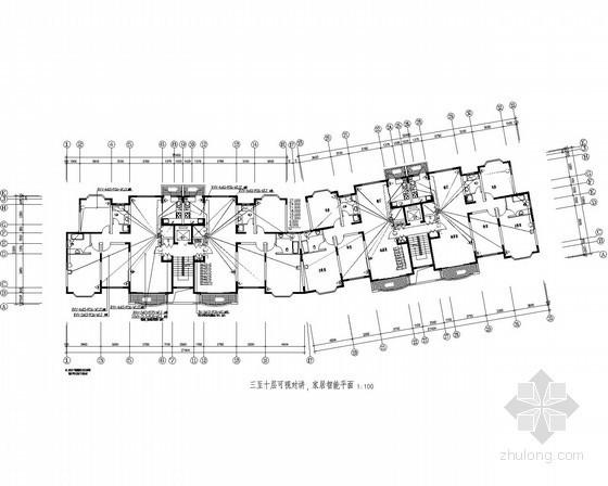 住宅电气施工图纸(含智能化系统)