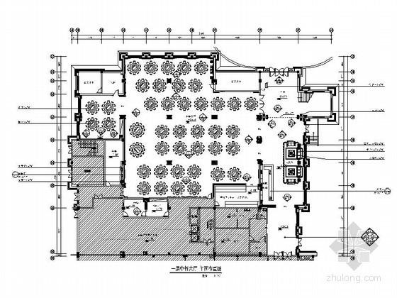 [安徽]酒店豪华中餐厅大厅装饰施工图