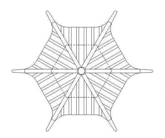 古建六角亭施工图-2