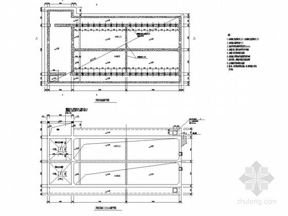 ic厌氧反应器施工图资料下载-废水处理站厌氧反应池结构施工图