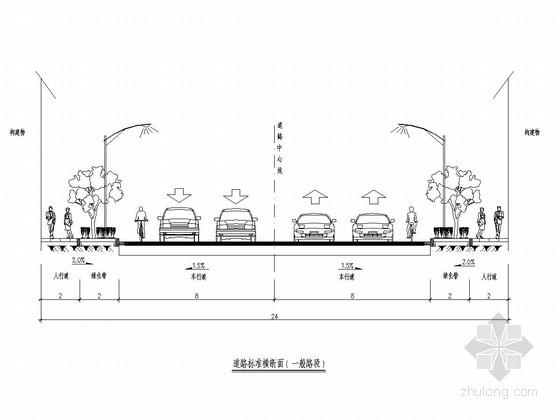 [浙江]城市次干道道路工程施工图设计31张